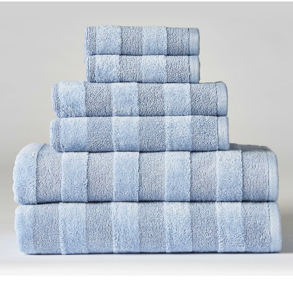 Rolph 6 Piece 100% Cotton Towel Set by Charlton Home